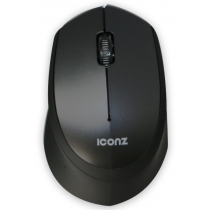 Iconz Wireless, Silent Click Mouse, Black, Rubberized - IMN-WM02K