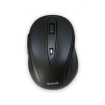 Iconz Wireless 6-buttons Mouse Rubberized Metallic Paint, Rubber Finish - IMN-WM03K