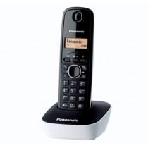 Panasonic Cordless Phone DECT, 50 Name & Number Phone Book, White - KXTG1611