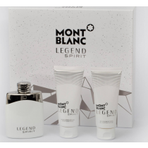 Montblanc Legend  Spirit Gift Set, Eau De Toilette 100ml+After Shave Balm 100ml+Shower Gel 100ml