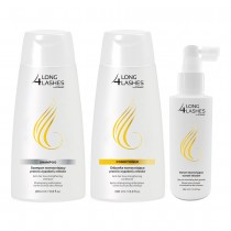 Long 4 Lashes, Hair Shampoo with Hair Conditioner and  Hair Serum