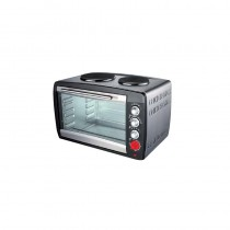 Campomatic 45 Liter Electric Oven,  3200W Ss Housing,  2 Electric Hotplates  Lamp - TB45ES