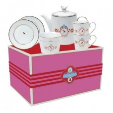 Pip Studio 7 Piece Love Birds White And Pink Tea Set Gift Boxed - Avaialble in 2 colors