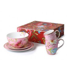 Pip Studio, Set of 5 Lovely Branches & Chinese Garden,Pink