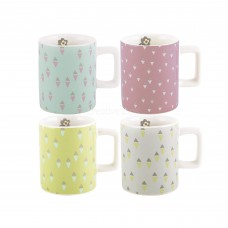 Creative Tops, Katie Alice, Pretty Retro Set Of 4 Espresso Cups
