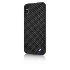 BMW Real Carbon Fiber TPU Hybrid Case for iPhone X- Black