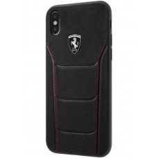 Ferrari Heritage 488 Genuine Leather Hard Case for iPhone X - Black
