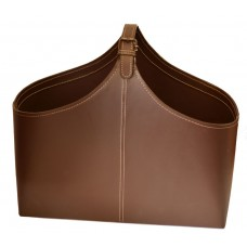 Gifts & More, Leather Basket Magazine Rack