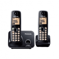Panasonic Cordless Phone DECT with Handy, Black - KXTG3712BXB