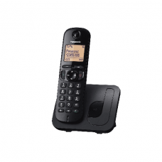 Panasonic Cordless Phone DECT, 50 Name & Number Phone Book, Black - KXTGE210BXN