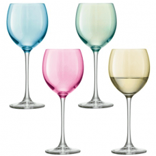 Lsa, Polka, With A Set Of 4 Wine Glasses, 400 Ml, Pastel Assorted