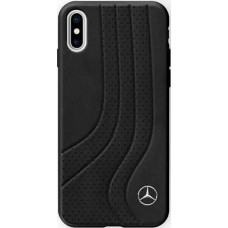 Mercedes-Benz New Bow II Genuine Leather Hard Case for iPhone X - Black