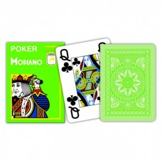 Modiano, Poker Platinum 4 Jumbo Index Cristallo, Light Green