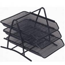 Memoris, Paper Tray Mesh 3 Tier, Black Document Trays,  3 Trays