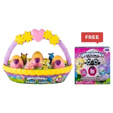 Hatchimals, Egg Col Spring Basket with Free Puzzle Box