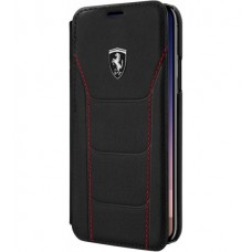 Ferrari Heritage 488 Genuine Leather Book Type Case for iPhone X - Black