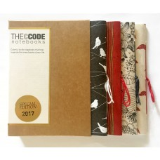 Skooncreations, The Ccode Handmade Notebooks, Red Grey