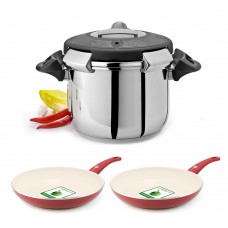 Artame - Ovni Pressure Cooker with 2 Free Green Pan